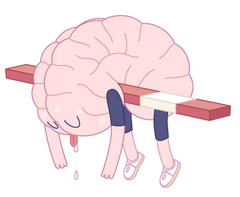 Ein erschöpftes Gehirn